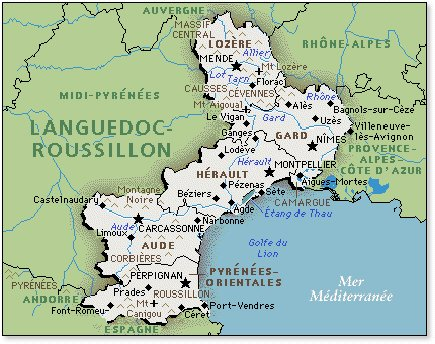 Roussillon France Map.Volcanoes Of Languedoc Roussillon